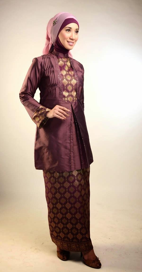 Model Songket Kombinasi Kebaya Muslimah