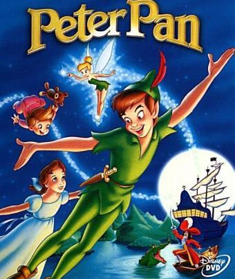 Dibujo de Peter Pan con sus amigos