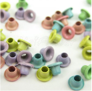 Coloured eyelets