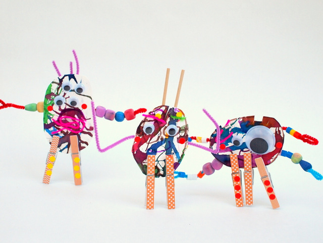 make monster sculptures with preschoolers