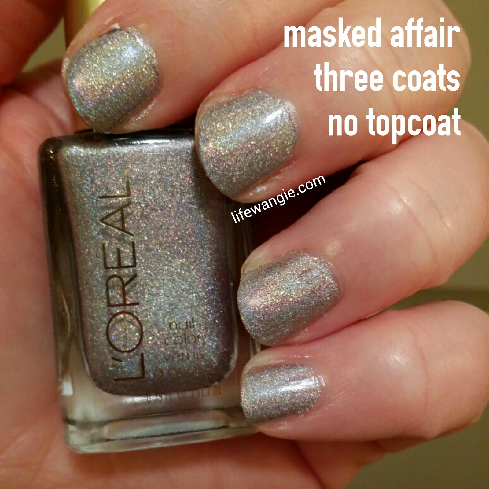 Masked Affair, three coats, no topcoat
