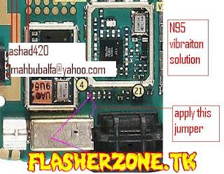 Nokia n95  camera key jumper diagram hardware solution