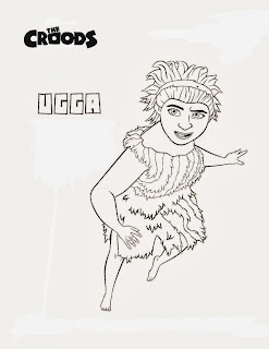 Desenhos de Os Croods para Colorir