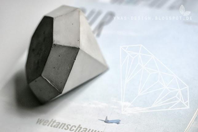 Diamant aus Beton, Oh, Beton! Ynas Design Blog