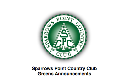 Sparrows Point CC Greens Department