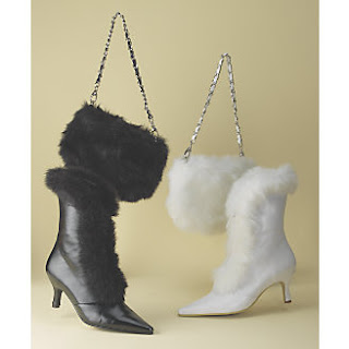 Faux Fur Trim Bag & Boot