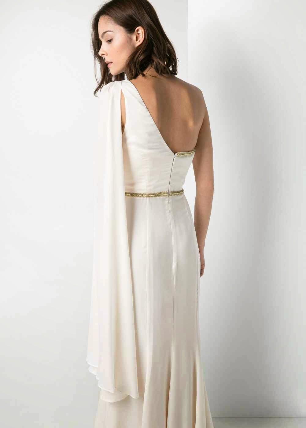 Vestido Helénico de Novia de Mango.