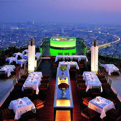 Restaurante Sirocco en la State Tower de Bangkok