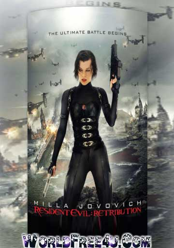 Poster Of Resident Evil 5 Retribution (2012) Full Movie Hindi Dubbed Free Download Watch Online At worldfree4u.com