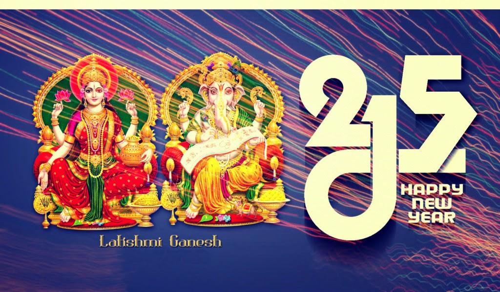 Happy New Year Lord Krishna Happy New Year 2015 God Laxmi