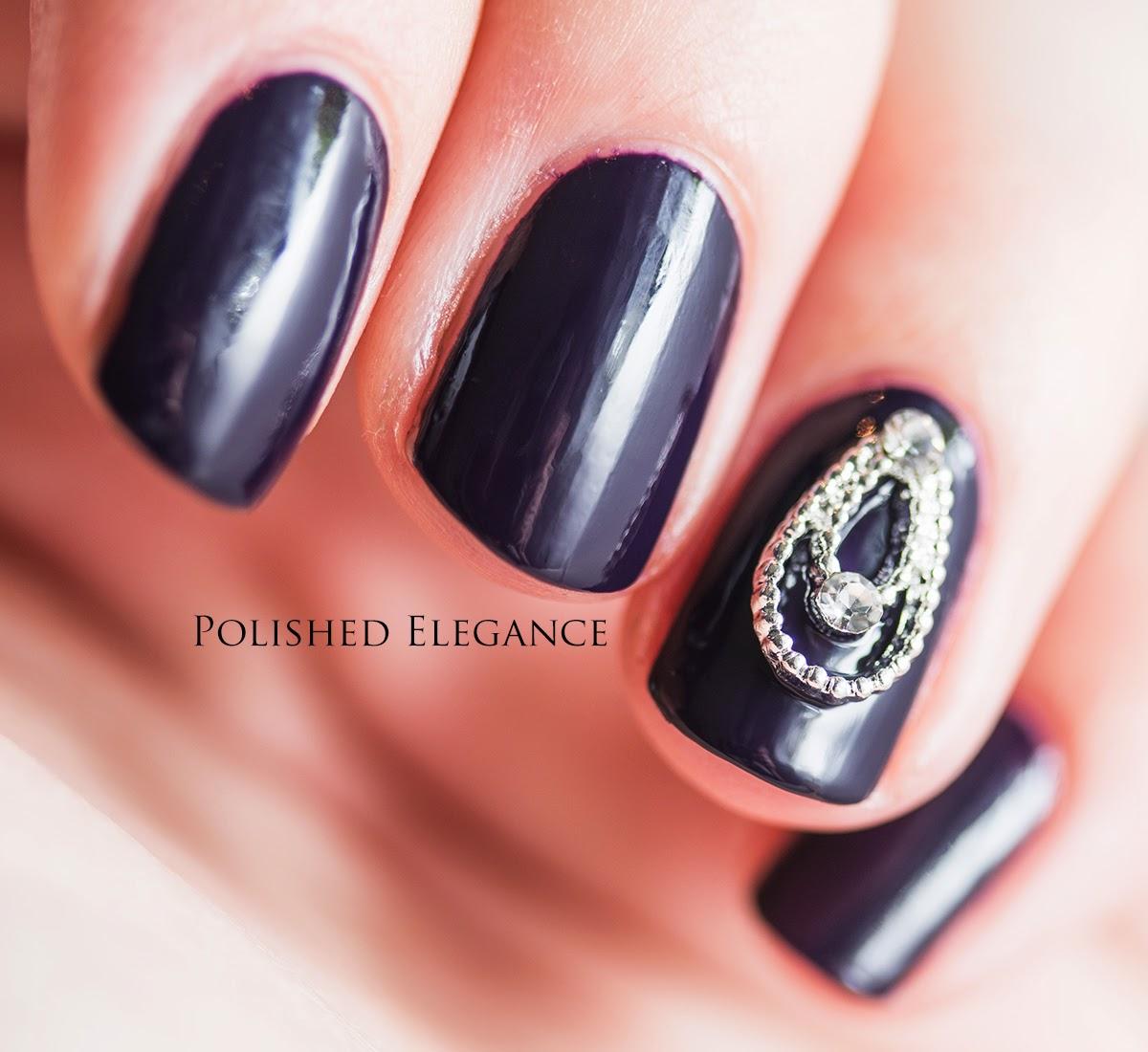 OPI - Viking In A Vinter Vonderland swatch review nail polish 3D bling nail art manciure