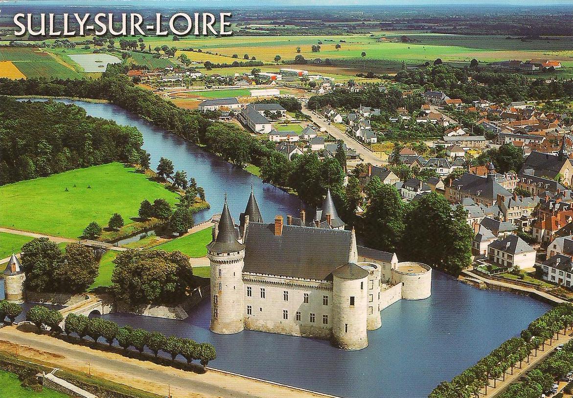 My unesco whs postcards collection france the loire for Clair logis sully sur loire
