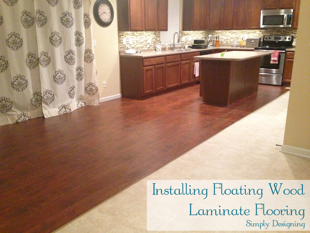 Laminate Wood Flooring Installation | #diy #homeimprovement #flooring |  Simply Designing - How To Install Floating Wood Laminate Flooring {Part 1}: The