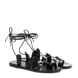 Ancient Greek Sandals Black Leather Alcyone Tie Up Gladiator Sandals vs Forever 21 Look for Less