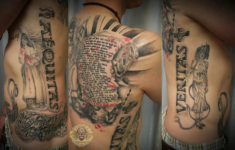 Art and tattoo pergament for Boondock saints hand tattoos
