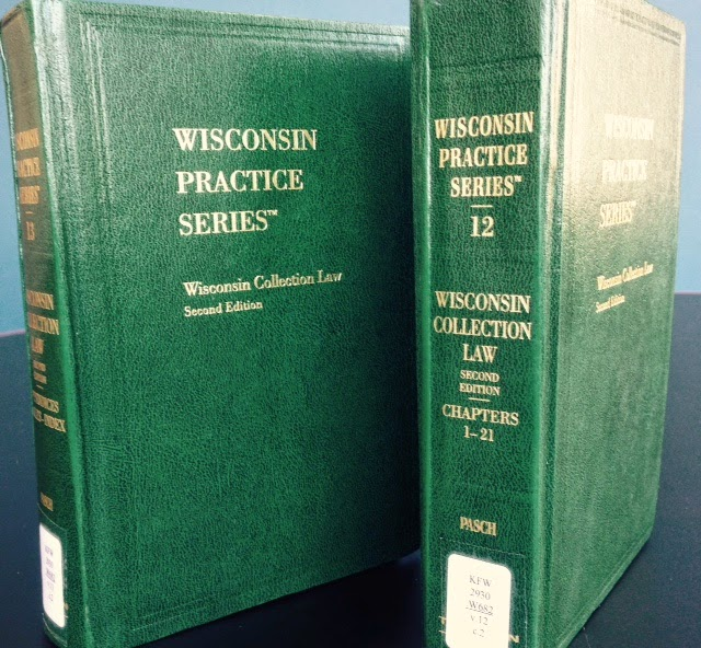 Wisconsin Collection Law book covers