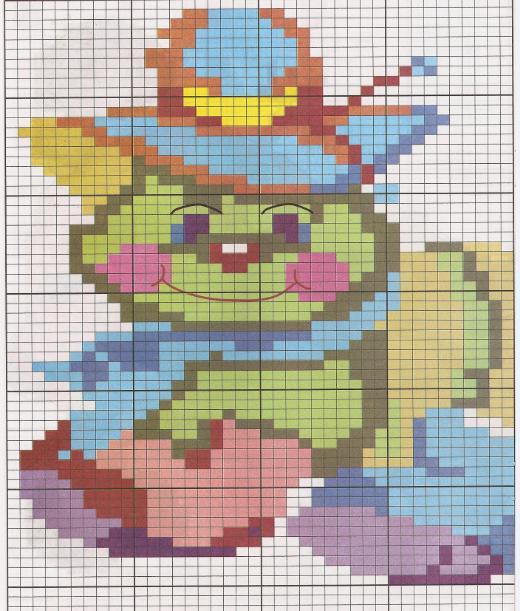 images of De Colores Esquemas Infantiles Para Punto Cruz Graffiti