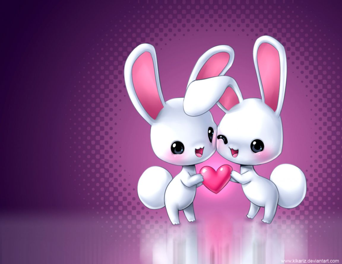 Easter Bunny Couple Hd Wallpaper Hd Wallpapers Gallery