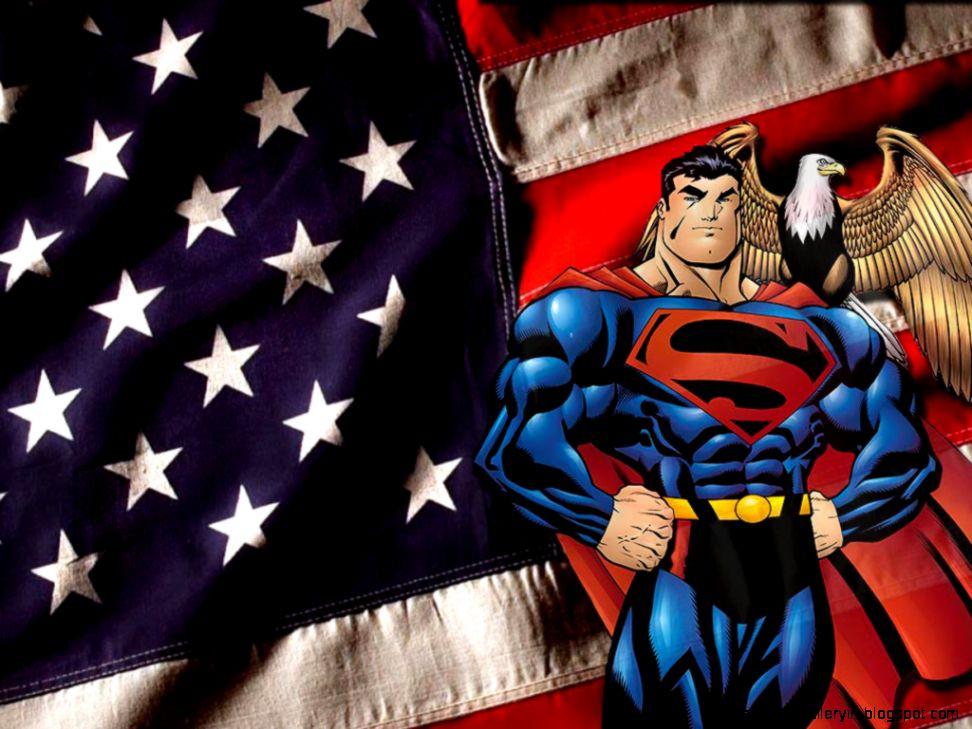 Superman american flag wallpaper wallpaper gallery view original size voltagebd Gallery