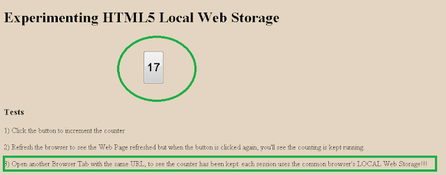 Local Web Storage in HTML5