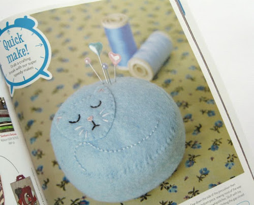 http://bugsandfishes.blogspot.co.uk/2014/08/rag-doll-cat-pincushion-for-docrafts.html