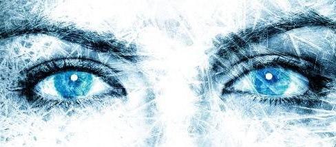 Olhar azul congelado