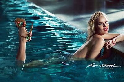 Eva Herzigova Naked for Brian Atwood's Spring 2013 Campaign -2