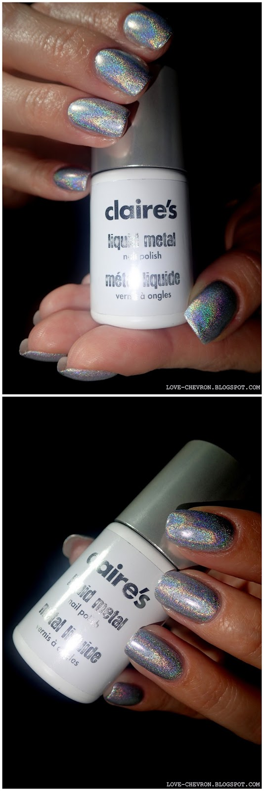 srebrny lakier holograficzny