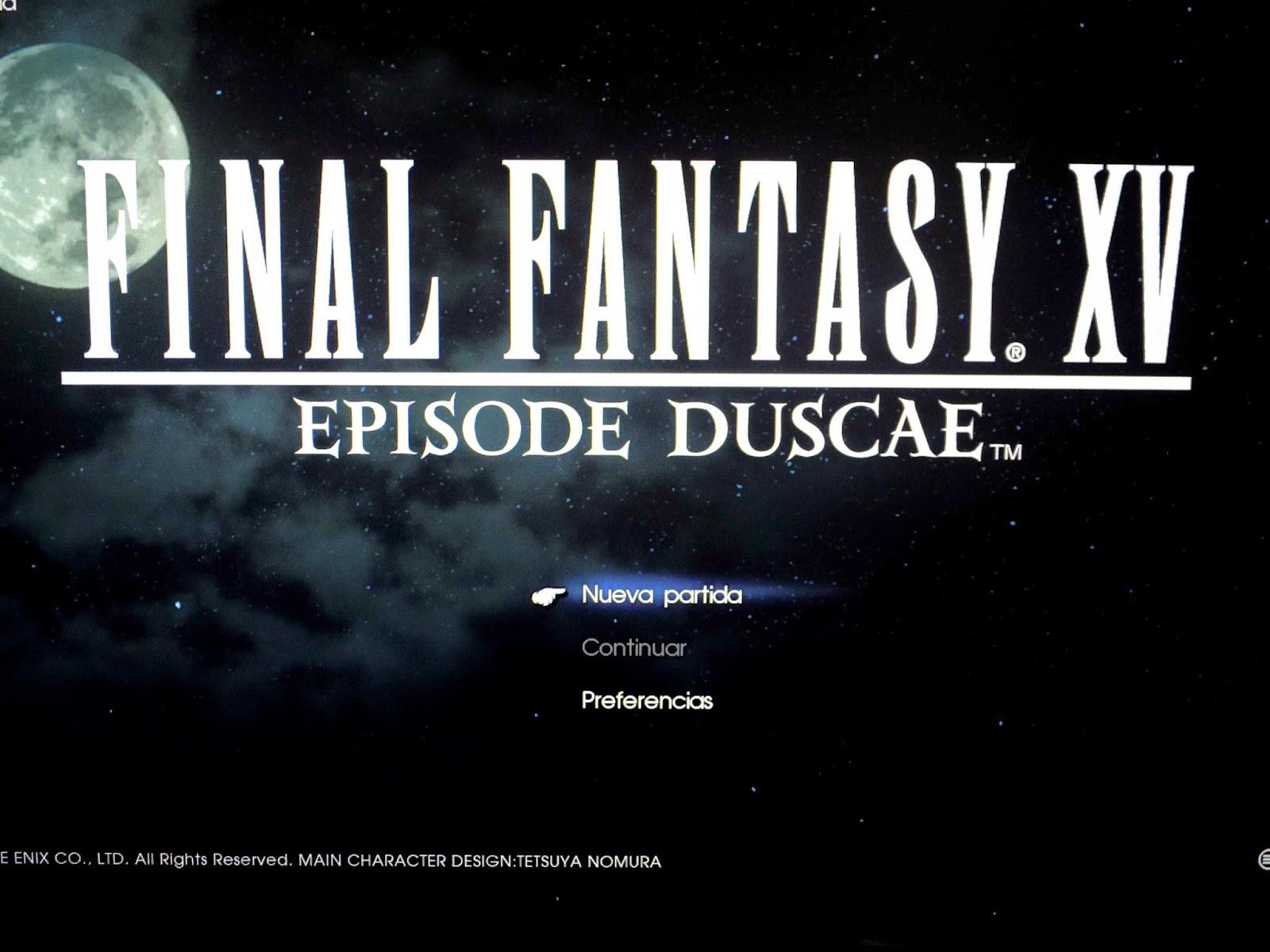 demo final fantasy xv episode duscae codigo