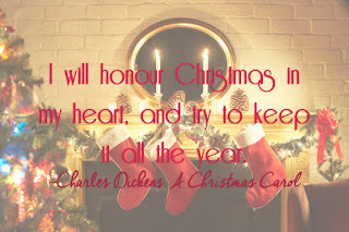 I will honour Christmas in my heart, and try to keep it all the year.
