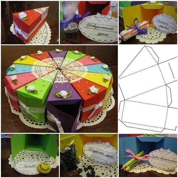 Как сделать из коробочек торт