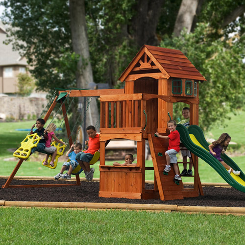 wooden swing sets are a superb means to boost your yard landscaping