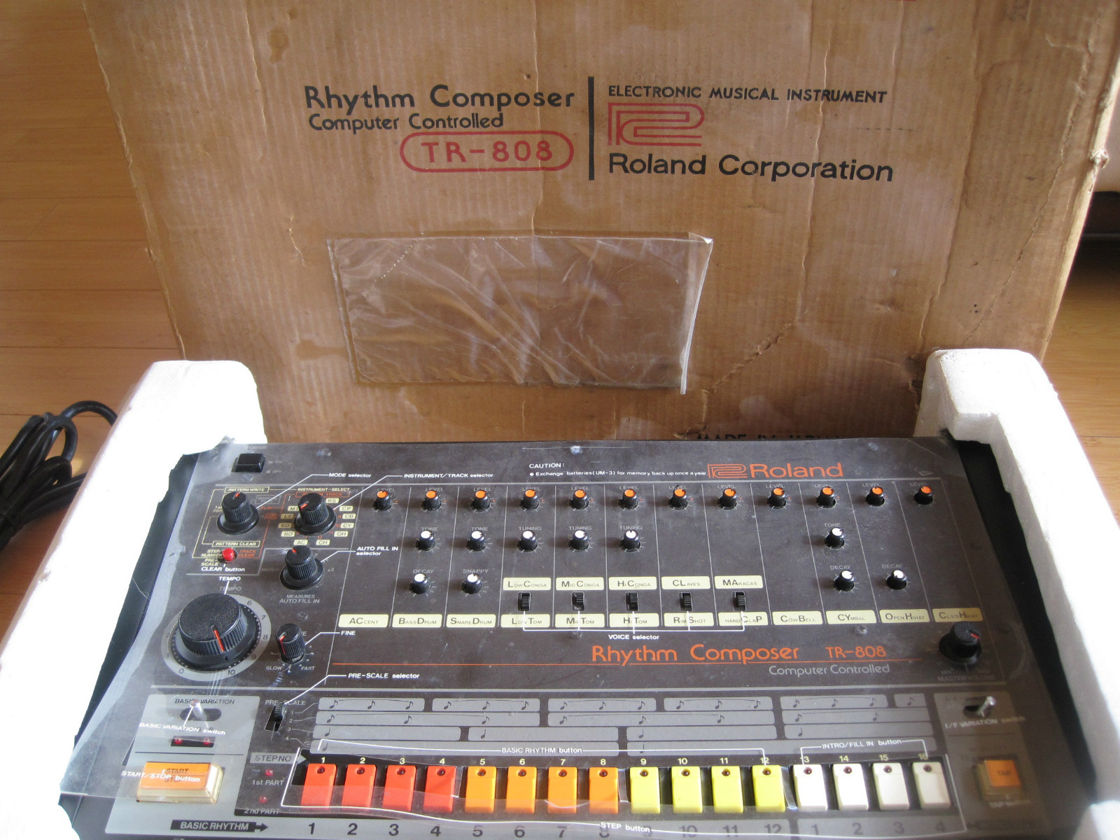 vintage roland drum machine