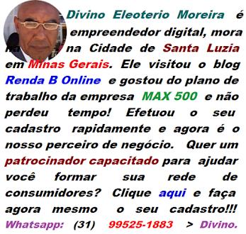 Cadastre-se aqui com Divino Eleoterio Moreira