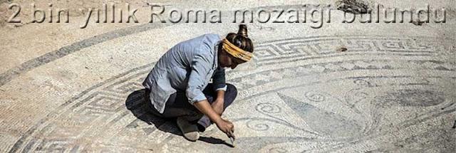 2 bin yillik Roma mozaigi bulundu