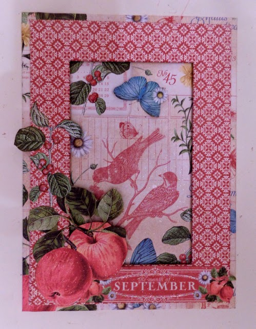 Time To Flourish Decorative Frame September Clare Charvill Jones Crafts Graphic 45