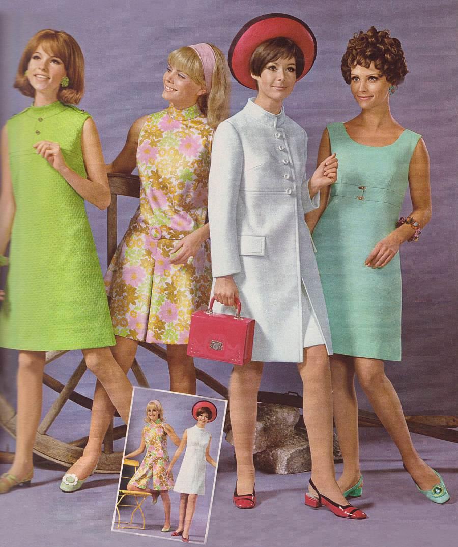 Платья семидесятых годов