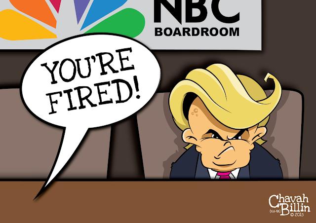 NBC fires Donald Trump - Dump Trump Editorial Cartoon