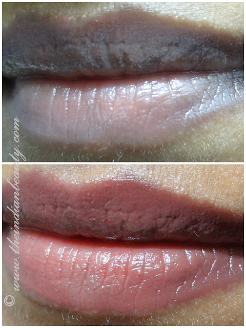 loreal le gloss really rose lip swatch