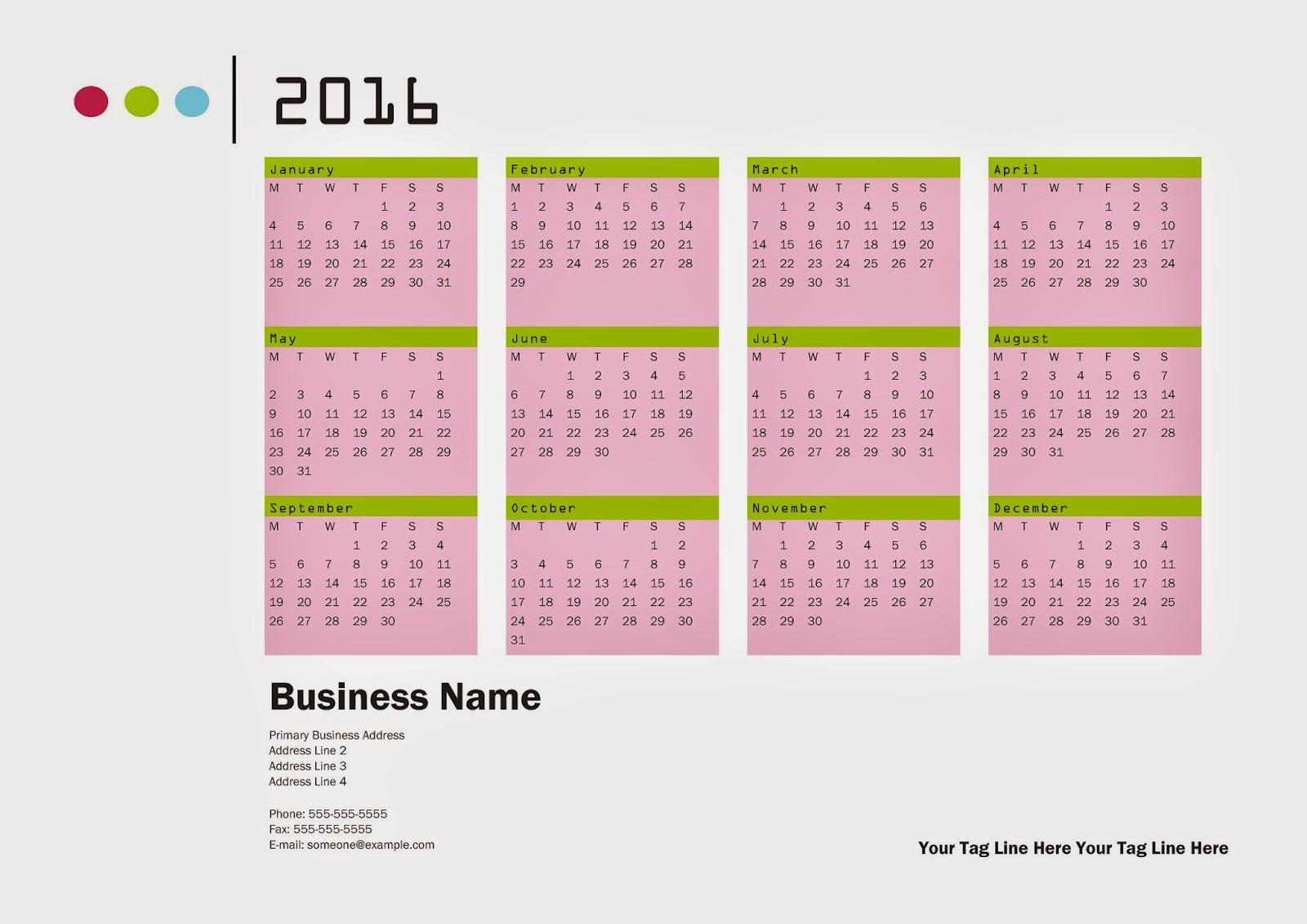 Happy New Year 2016: Calendar 2016 - Free Download Vector PDF JPG ...