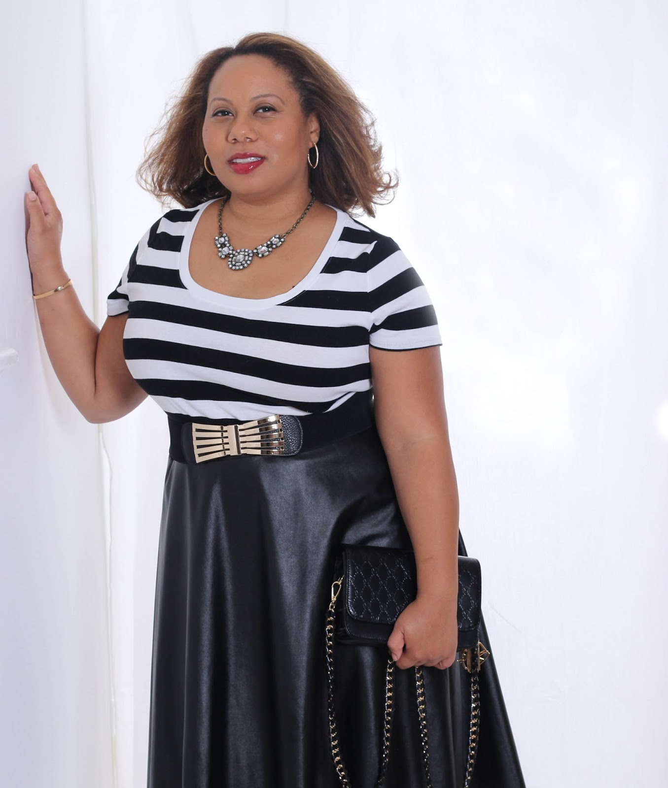 Try the Trend: Faux Leather   Dressy Casual   Fall Fashion   Curvy Outfit Ideas   Petite Outfit Ideas   Plus Size Fashion   OOTD   Professional Casual Chic Fashion and Style Inspiration