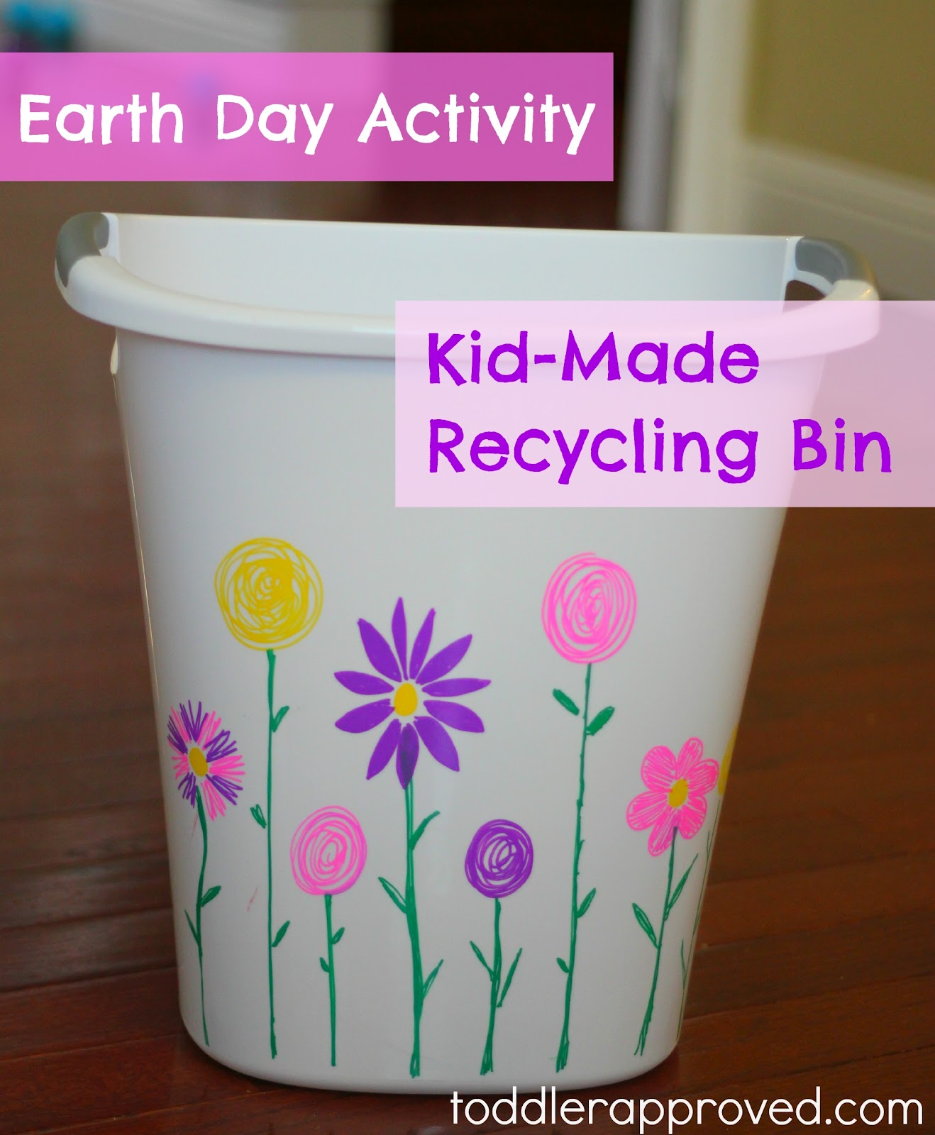 Earth Day Activity Kid Made Recycling Bin Toddler