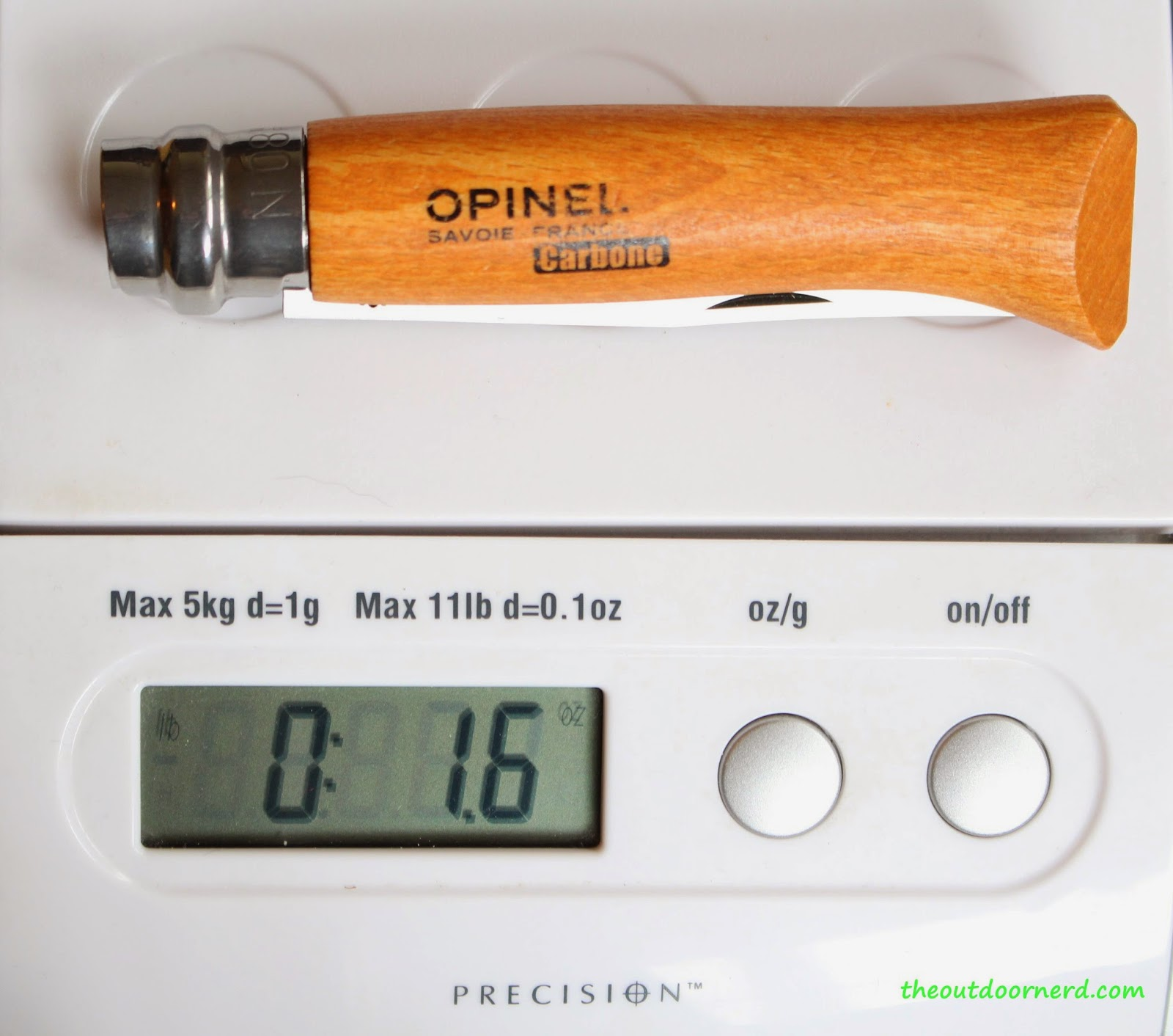 Opinel No. 8 Pocket Knife: Leather On Scale