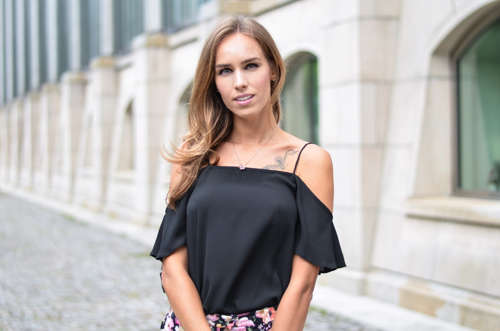 kristjaana mere black off shoulder top german fashion blogger