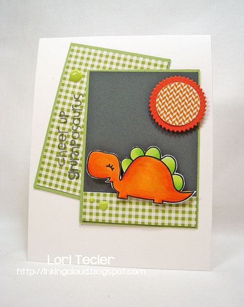 Cheer Up Grumpasaurus-designed by Lori Tecler-Inking Aloud-stamps from Paper Smooches