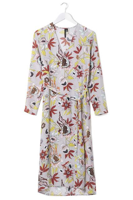 floral v neck dress, topshop floral dress,