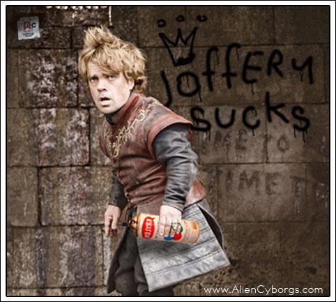 tyrion graffiti joffrey - Juego de Tronos en los siete reinos