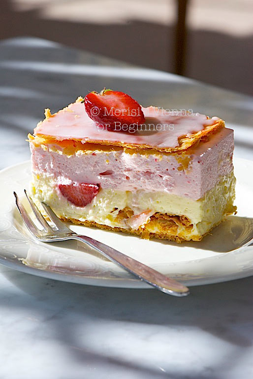 ... : The Best Strawberry Napoleon Ever: Pâtisserie Zauner in Bad Ischl