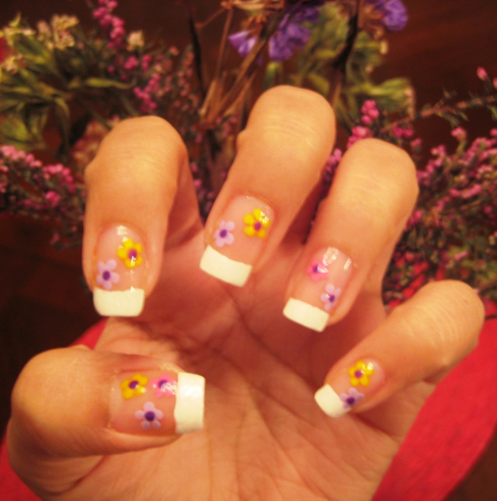5 Finger Discount: Cute Holiday Nail Art on a budget: French ...