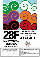 """Manifestación 28-F """"La Andalucía que no se resigna y lucha a la Calle"""""""